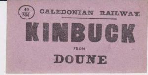 Kinbuck from Doune Luggage Label