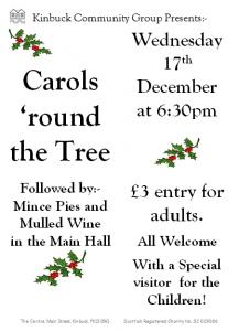 20141217 Carols 'round The Tree Poster Photo