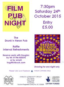 20151024 Film Pub Night Photo of poster