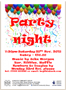 Party Night Poster as a photo