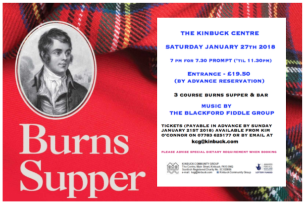 Burns Supper – 27th January