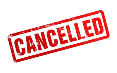 Hall Events Cancelled